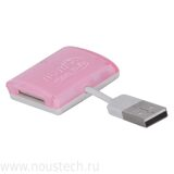 Mini USB Memory Card Reader для SD /DXC MicroSD MS M2 - розовый